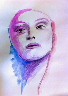 Sinfonia di colore - acrilic on paper 21x29 cm