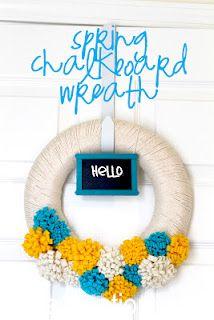 Spring Chalkboard Wreath