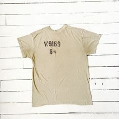 A personal favorite from my Etsy shop https://www.etsy.com/listing/187615067/super-soft-vintage-army-tee-large