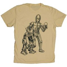 Star Wars R2 /  3PO (Men's 3X-Large) T-Shirt) Dune Sea Cold Ones Star Wars Beer Tshirt