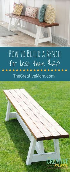 how to build a bench Diy Outdoor Furniture, Diy Furniture, Outdoor Decor, Garden Furniture, Country Furniture, Furniture Stores, Outdoor Benches, Adirondack Furniture, Primitive Furniture