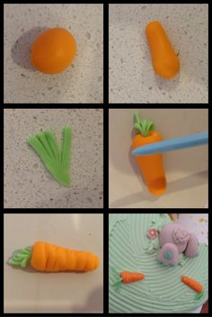 How to make a carrot with fondant (easter)