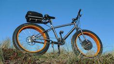 titanium fat bike with electric drive. Titan Fat Bike mit Elektroantrieb #fatbike #bicycle