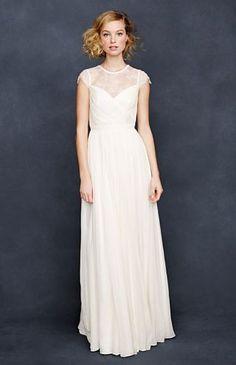 REVEL: Lace Chiffon Wedding Gown #jcrew #perfect dress