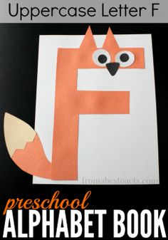 Preschool Alphabet Book: Uppercase Letter F – From ABCs to ACTs Nothing could be cuter than this adorable little fox craft for preschoolers made from the uppercase letter F! Really want great hints on arts and crafts? Go to this fantastic info! Letter F Craft, Preschool Letter Crafts, Alphabet Letter Crafts, Abc Crafts, Preschool Projects, Alphabet Book, Daycare Crafts, Preschool Books, Alphabet Activities