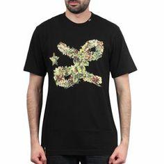 Nouvelle collection printemps-été 2014 T-shirt LRG - Floral Cursive Tee Black
