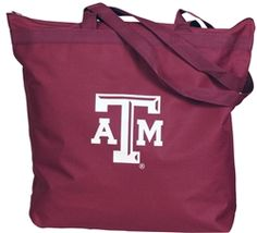 $10 The perfect economical tote for campus or the mall or anywhere you bring your stuff. Has long shoulder length handles plus a zipper closure and interior lined material for easy Clemsonan up. Made from durable polyduck fabric.