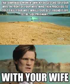 Funny pictures about Doctor Who Madness. Oh, and cool pics about Doctor Who Madness. Also, Doctor Who Madness. Dr Who, Time Lords, Fandoms, Serie Doctor, Doctor Who Funny, Funny Doctor Memes, Don't Blink, Get Shot, Bad Wolf