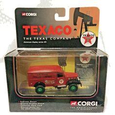 CORGI Texaco Dodge 4x4 Texas Pipeline Showcase Display CS90006 1:50 Diecast #Corgi #Dodge