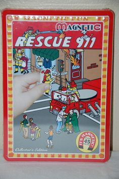 Magnetic Fun Rescue 911 Fire Fighters Police Officers Rescue NEW M580-RS #LeePublications