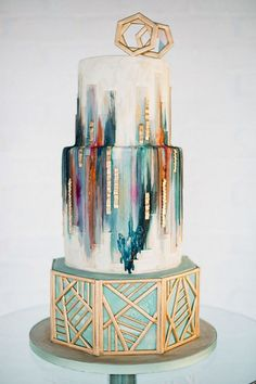 Geometric Wedding Cake | Brides.com
