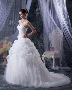 Prinzessin Umgedrehtes Dreieck Pick-Ups Brautkleid mit tiefer Taille für kleine…