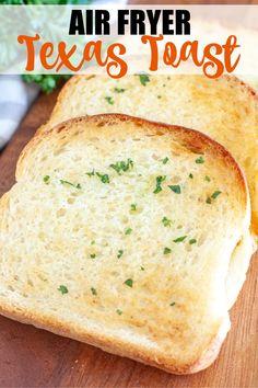 Texas Toast Garlic Bread, Frozen Garlic Bread, Homemade Garlic Bread, Air Fryer Dinner Recipes, Air Fryer Recipes Easy, Easy Homemade Recipes, Easy Cooking, Cooking Recipes, Lunch Recipes