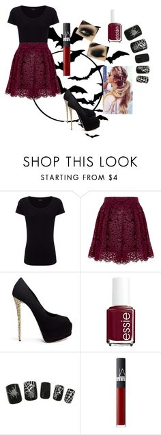 """""""Cute outfit for Halloween"""" by siriuslyasamarauder ❤ liked on Polyvore featuring Joseph, Alice + Olivia, Giuseppe Zanotti, Essie and NARS Cosmetics"""