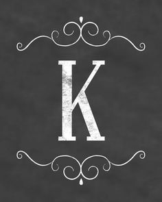 Free Initial Chalkboard Printables.  All letters of the alphabet available, it just like the letter K :)