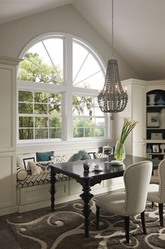 A big beautiful arch window can add elegance to any room. Featured: Tuscany® Series.
