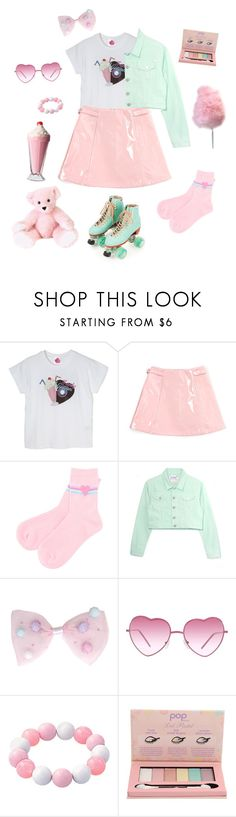 """Let's go roller skating~!"" by sweetpasteldream ❤ liked on Polyvore featuring Moxi, Cotton Candy, Almost Famous, POPbeauty, pastel, fairy and jfashion"