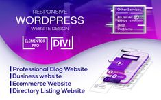 Do you want a fully Responsive, professional-looking WordPress website design using Elementor-Pro, Divi, Avada for your business that has high performance? Look no further. Addicted to perfection, I can deliver exactly what you're looking for. What do you get? Highly professional and responsive design All browsers compatible SEO and Mobile friendly structure Speed optimized Best user experience and CTAs Customized design E-commerce with various payment integrations Modern Logo Design, Custom Design, Wordpress Website Design, User Experience