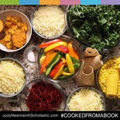 On our new blog, judynewmanatscholastic.com, you'll find Cooked From a Book, a place to share meals inspired by children's books. #JNBlog #Blog #Reading #CookedFromABook #recipe #cooking