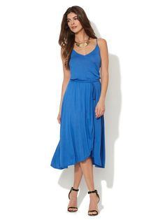 Miguelina Valora Wrap Front Jersey Dress