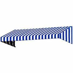 New Yorker Slope Rigid Valance Awning, Blue
