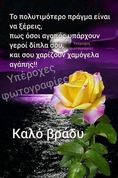 Good Night, Good Morning, Beautiful Pink Roses, Picture Quotes, Greek, Pictures, Funny Illustration, Greek Sayings, Nighty Night