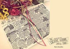 Myro Doodles - The Creative Wedding Fair by Etsy Manchester - Wedding Doodles - Wedding Stationery - Doodle Style Wedding - Wedding Illustration