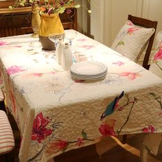 >> Click to Buy << New American printed cotton Square rectangle embroidery Tablecloth table cloth dinner mat Mat table cover wholesale FG256-2 #Affiliate