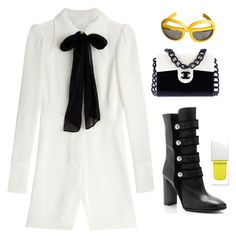 """Untitled #262"" by tinachagnon on Polyvore featuring Isabel Marant, Maison Margiela, Chanel, Givenchy, women's clothing, women, female, woman, misses and juniors"