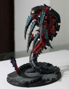 Warhammer 40K Tyranid Trygon Forge World Pro Painted Red Behemoth Flee | eBay