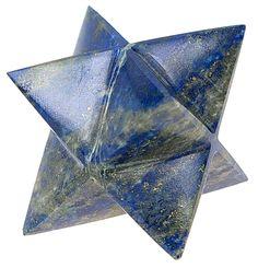 Etoile de Merkaba en lapis lazuli, pierre semi précieuse bleue  Merkaba star in lapis lazuli, semi precious stone