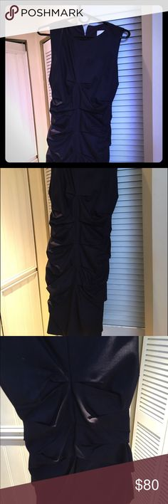 Authentic Nicole Miller- dark purple sheath Perfect work dress or cocktail reception.  I included the web image -- this dress is definitely a deeper purple Nicole Miller Dresses Midi