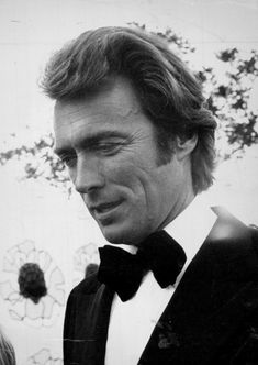 """Clint Eastwood photographed by Ray Hamilton at a formal attire event in 1971."""