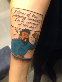 my captain haddock from tintin tattoo!!!
