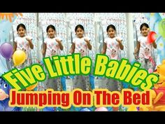 NEW - Five Little Babies Jumping On The Bed baby songs