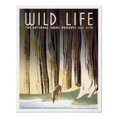 National Parks Poster Poster Vintage, Vintage Travel Posters, Vintage Prints, Vintage Art, Vintage Style, Wpa Posters, Poster Prints, Retro Posters, Poster Ads