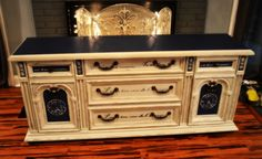 I've repurposed a similar dresser into a large buffet for my dining room.