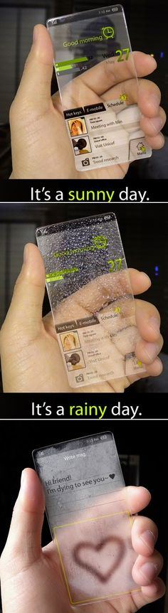 Transparent Phone Based on AMOLED and E Ink Technologies. We have already seen new windows phone concept with transparent display. Wh...