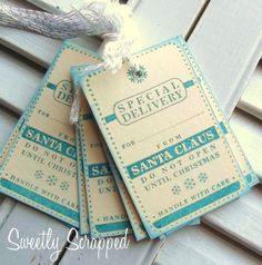 Teal Special Delivery Tags... Super CUTE! #Christmas_tags