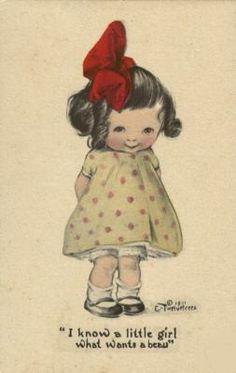 20 Ideas Birthday Happy Illustration Little Girls Vintage Pictures, Vintage Images, Cute Pictures, Retro, Etiquette Vintage, Graphisches Design, Vintage Valentines, Cute Illustration, Vintage Cards