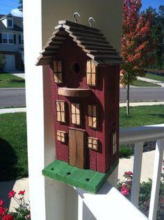 Another birdhouse made from untreated pallet wood