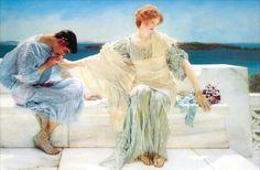 <더 이상 묻지 마세요>, 로렌스 앨마 테티마(Sir Lawrence Alma-Tadema), 1906, 캔버스에 유채.