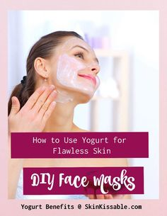 Eating yogurt has many health benefits. Using yogurt for the skin has also plenty of benefits: it can lighten the skin and help with dry skin and hair. Make these yogurt facial masks today! Homemade Facial Mask, Homemade Skin Care, Diy Skin Care, Skin Care Tips, Homemade Facials, Organic Skin Care, Natural Skin Care, Yogurt Benefits, Yogurt Face Mask