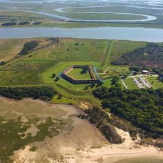 A view of Fort Pulaski from above…