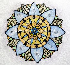 Bee Mandala (c) 2015 Trisha Leigh Shufelt