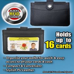 Health Pride - RFID Pop Up Wallet Pet Helpers, Customer Number, Kitchen Helper, Card Organizer, I Found You, Leather Material, Coupon Codes, Pop Up, Wallets