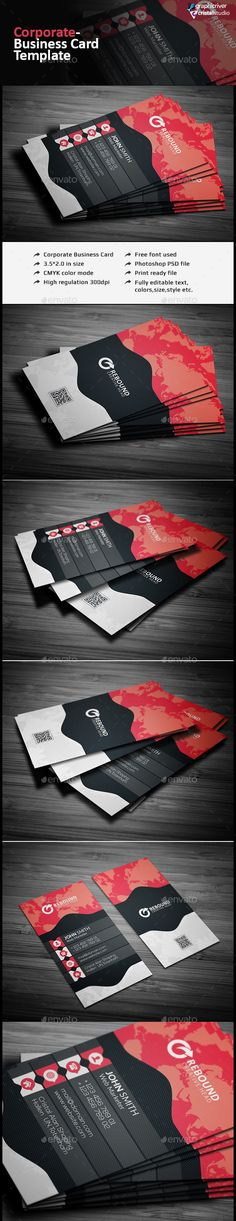 Corporate Business Card - Corporate Business Card Template PSD. Download here: http://graphicriver.net/item/corporate-business-card/12472112?s_rank=1771&ref=yinkira