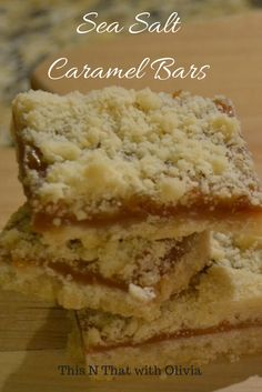 Blog post at This N That with Olivia :     Yummy! Don't the bars above look absolutely delectable!?! I am SO excited to share this recipe for all of you Caramel and swee[..]