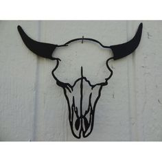 Cow Skull Head Metal Wall Art Country Rustic Home Decor