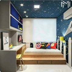 cool and stylish boys bedroom ideas 25 – Home Design Cool Bedrooms For Boys, Boys Bedroom Decor, Bedroom Ideas, Kids Room Design, Creative Decor, Boy Room, House Design, Decoration, Stylish Boys